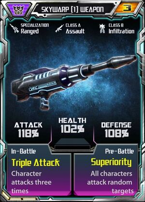 Skywarp (1) Weapon
