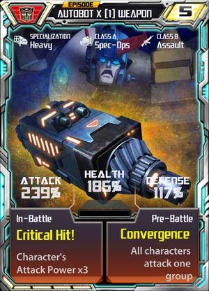 Autobot X 1 Weapon
