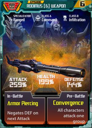 Rodimus 6 Weapon