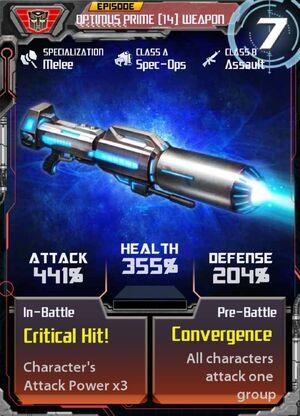 Optimus Prime 14 Weapon