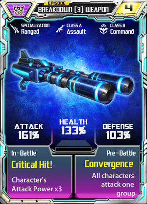 Breakdown 3 Weapon