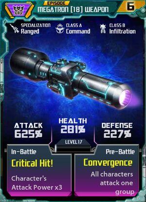 Megatron 18 Weapon