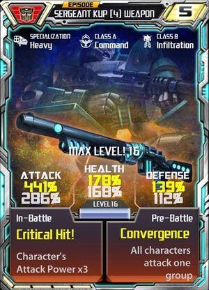 Sergeant Kup 4 Weapon