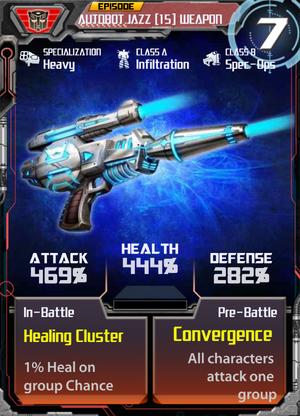 Autobot Jazz 15 Weapon