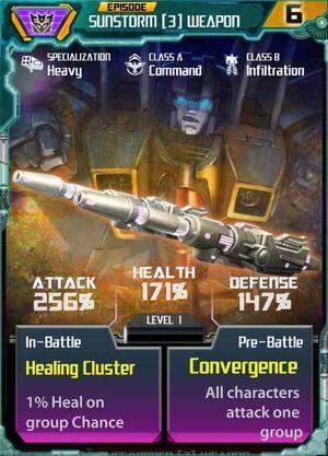 Sunstorm 3 Weapon