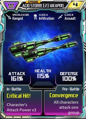 Acid Storm 2 Weapon