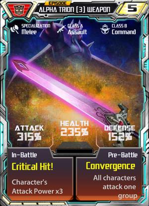 Alpha Trion 3 Weapon