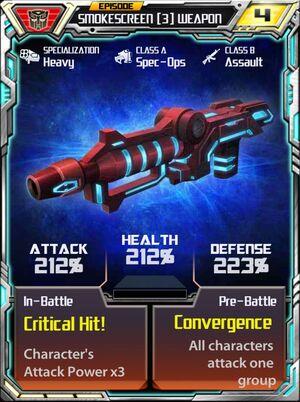 Smokescreen 3 Weapon