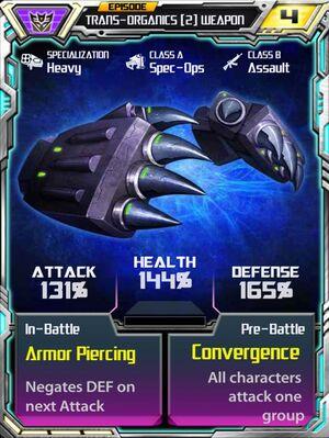 Trans-Organics 2 Weapon