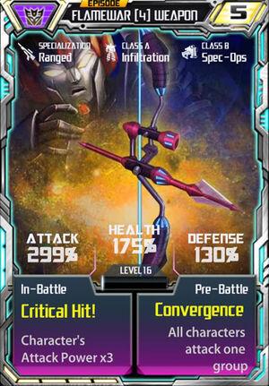Flamewar 4 Weapon