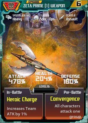 Zeta Prime 1 Weapon
