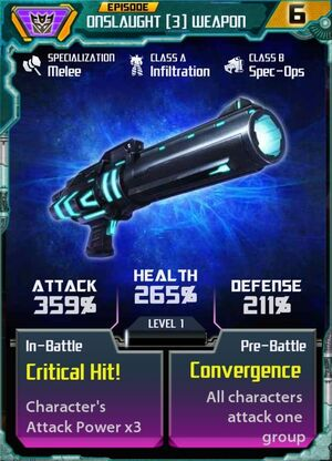 Onslaught 3 Weapon
