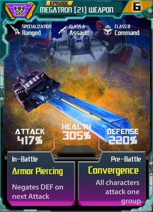 Megatron 21 Weapon