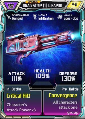 Drag Strip 1 Weapon