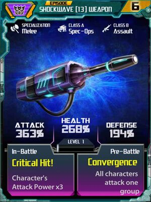 Shockwave 13 Weapon