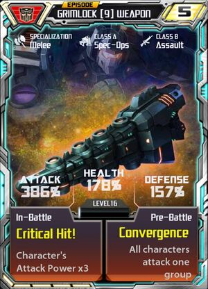 Grimlock 9 Weapon