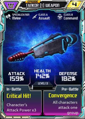 Takor 1 Weapon