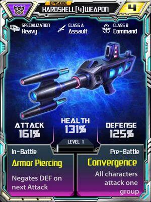 Hardshell 4 Weapon
