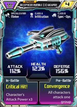 Decepticon Rumble 3 Weapon