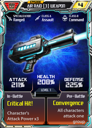 Air Raid 3 Weapon