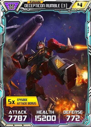 Decepticon Rumble 3 Robot