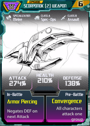Scorponok 2 Weapon