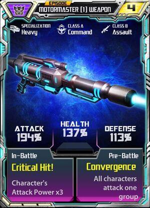 Motormaster (1) Weapon