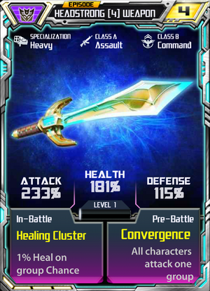 Headstrong 4 Weapon