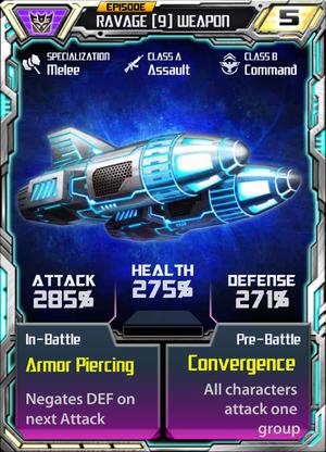 Ravage 9 Weapon