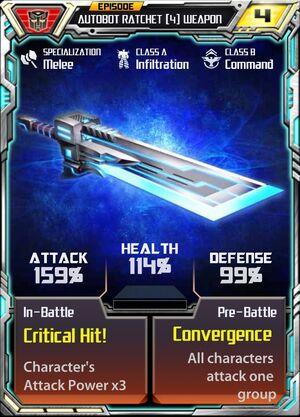 Autobot Ratchet 4 Weapon