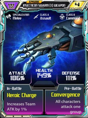 Insecticon Swarm 1 Weapon