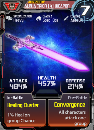 Alpha Trion 4 Weapon