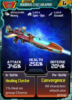 Rodimus 10 Weapon