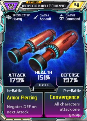 Decepticon Rumble 4 Weapon