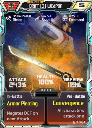 Drift 3 Weapon