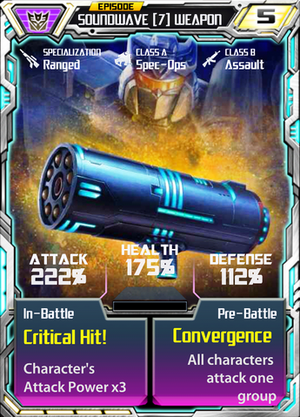 Soundwave 7 Weapon