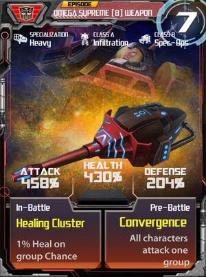 Omega Supreme 8 Weapon
