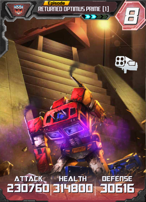 Returned Optimus Prime 1 E2