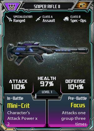 Sniper Rifle II Decepticon
