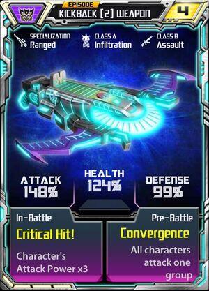 Kickback (2) Weapon
