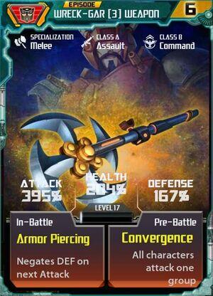 Wreck-Gar 3 Weapon