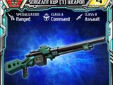 Sergeant Kup (3) Weapon