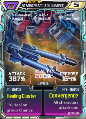 Starscream 10 Weapon