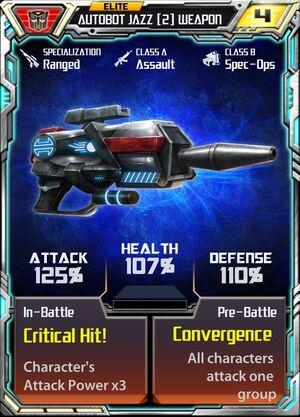 Autobot Jazz 2 Weapon