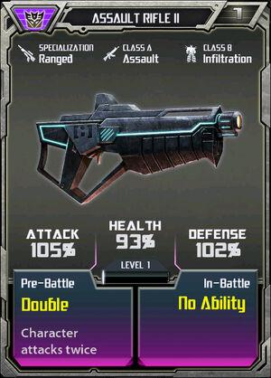 Assault Rifle II Decepticon