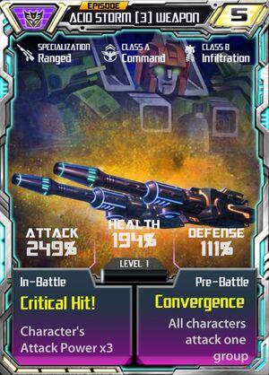 Acid Storm 3 Weapon
