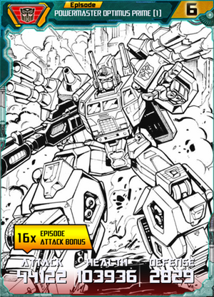 Powermaster Optimus Prime 1 SS Robot