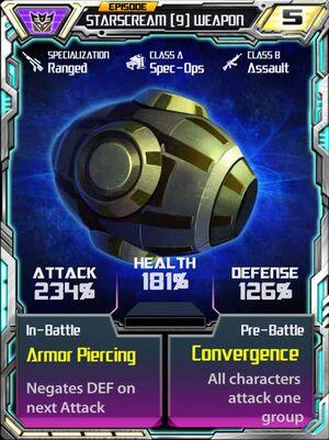 Starscream 9 Weapon