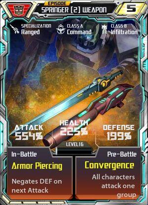 Springer 2 Weapon