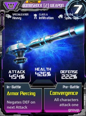 Bombshock 2 Weapon